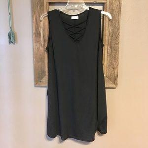 Women's Black Sleeveless Long Tunic Top XL🖤